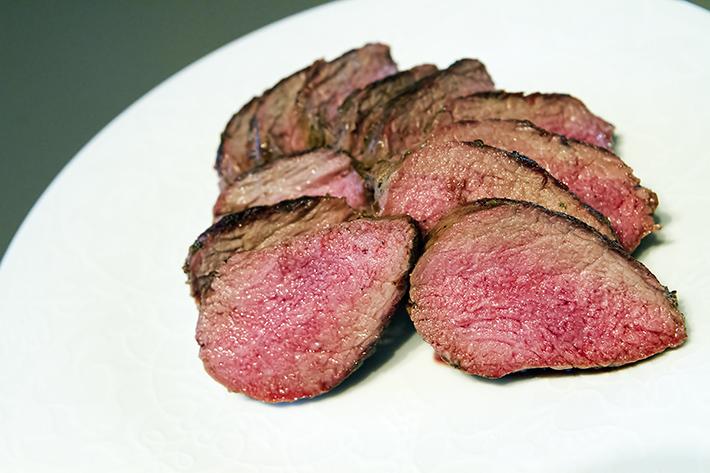 Fårefilet fra Coop, fantastisk kjøtt hvis du vil ha ferdigmarinert.